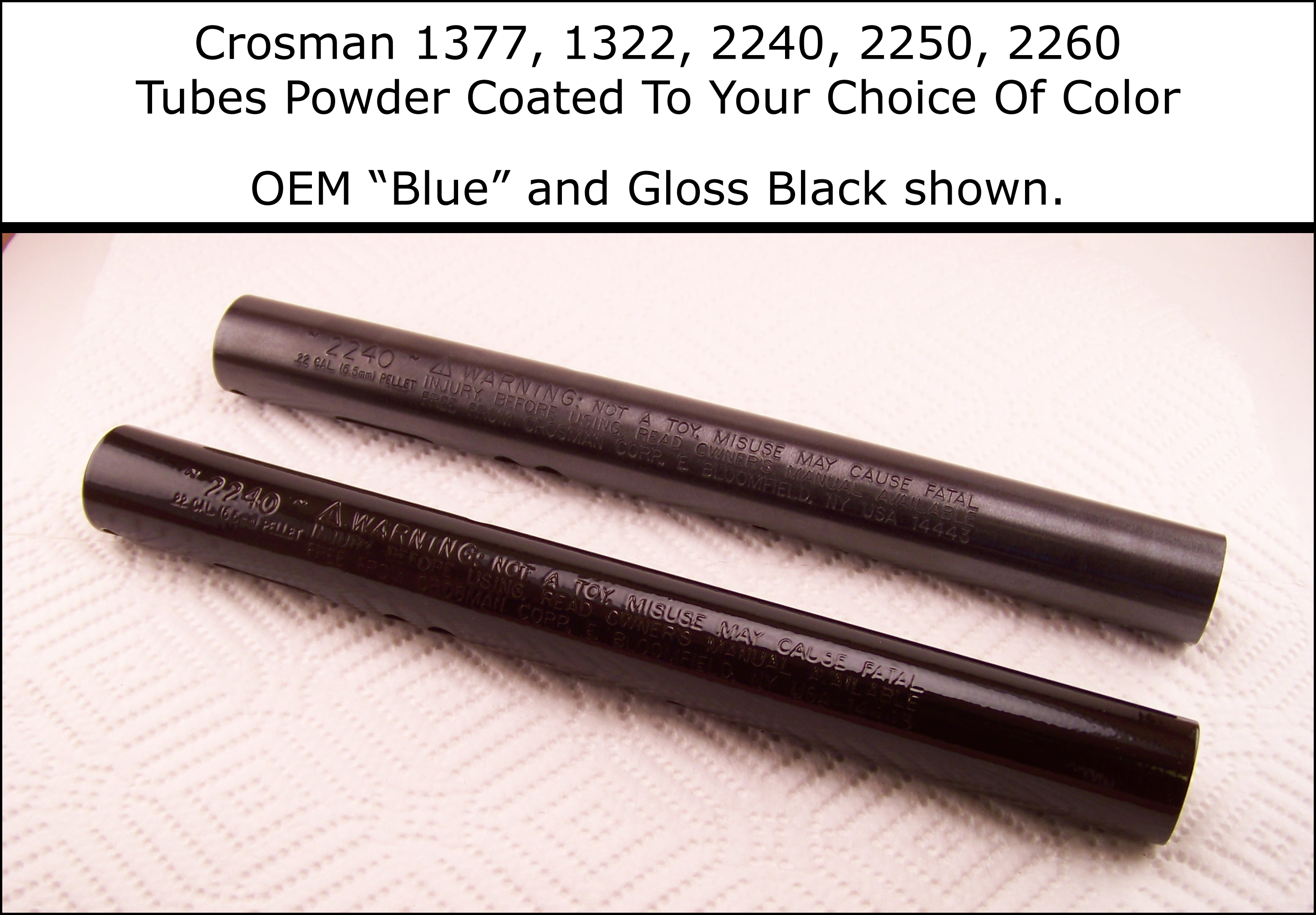 Powder Coated To YOUR Color Choice Crosman 2240 2250 1377